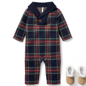 Janie and Jack PERFECT FOR CHRISTMAS ONE-PIECE